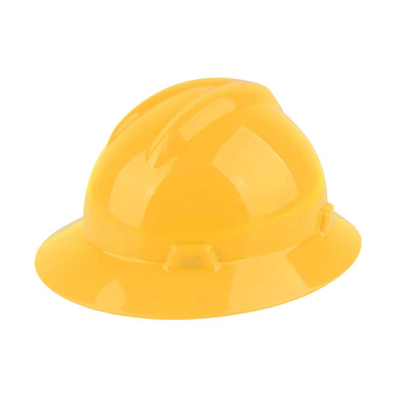 固安捷1561 大沿PE安全帽-黄色