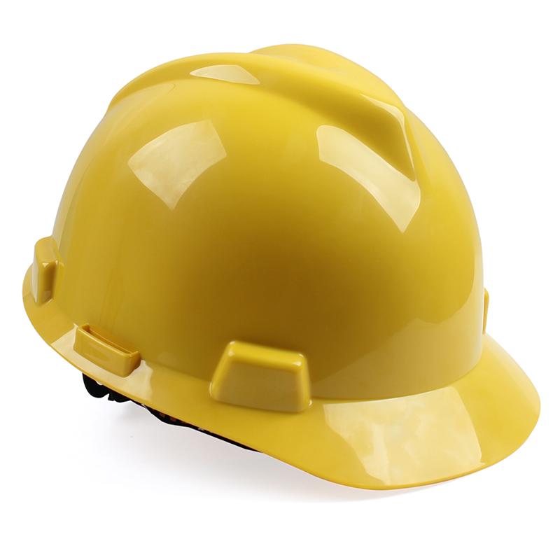 梅思安 10172901 V-GardPE标准型安全帽 白色PE帽壳 超爱戴帽衬针织布吸汗带 D型下颏带