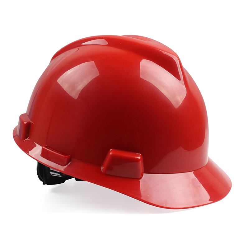 梅思安 V-Gard ABS 标准型安全帽 ABS帽壳 超爱戴帽衬 灰针织吸汗带 D型下颚带