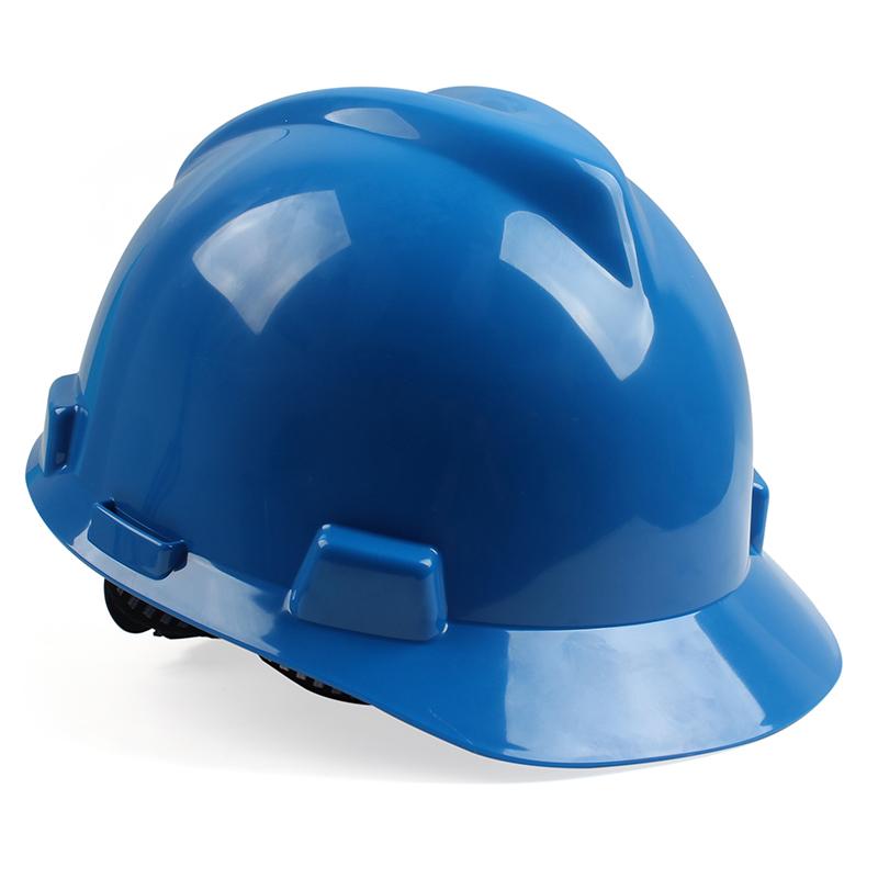 梅思安10172894 V-Gard标准 湖蓝ABS帽壳 超爱戴帽衬针织布吸汗带 D型下颏带