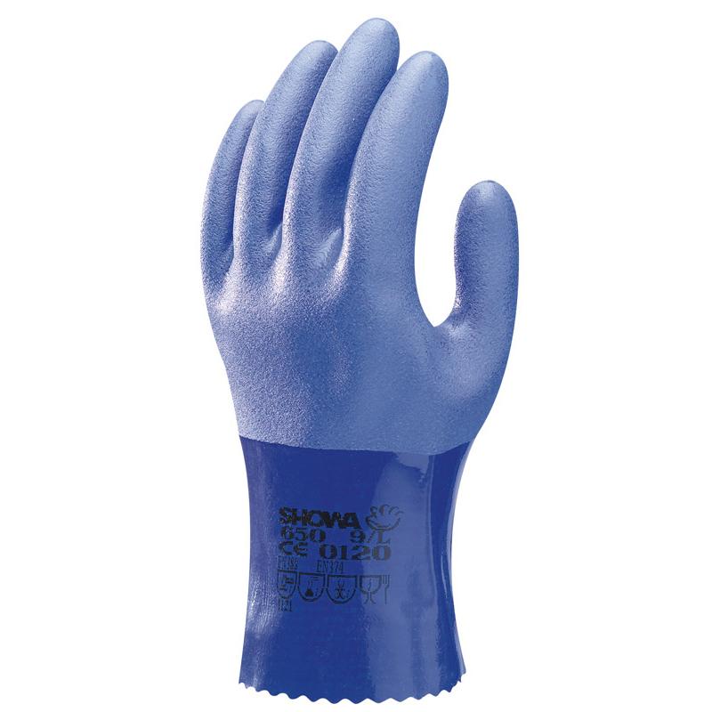 SHOWA尚和650PVC耐油操作手套25厘米