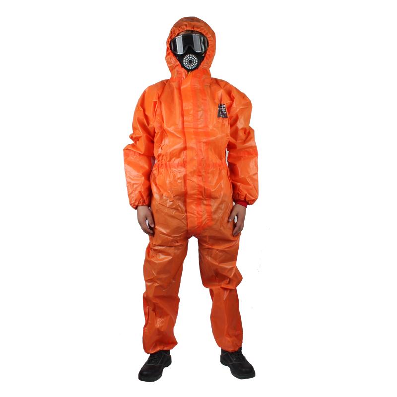 微护佳MC5000橙色双袖连体防化服 OR50-T-99-111-02